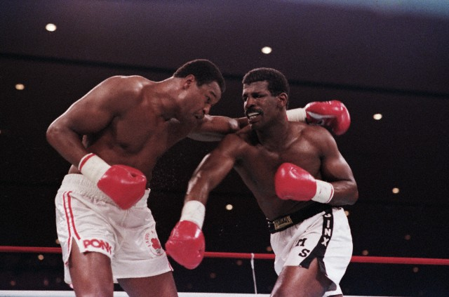 Michael Spinks and Larry Holmes in Rematch