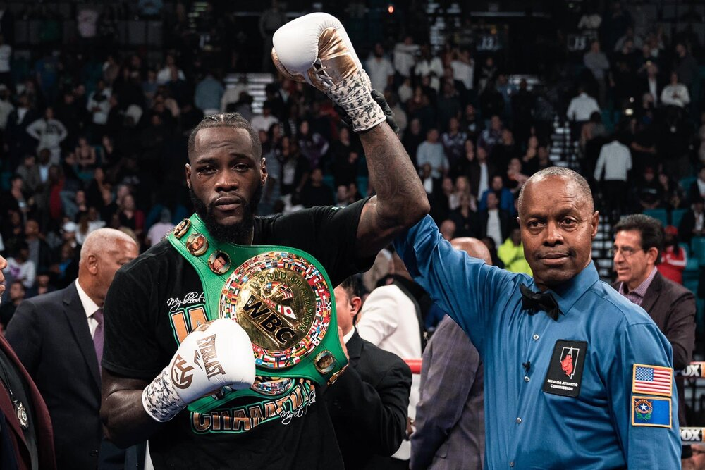 Image result for deontay wilder stops ortiz